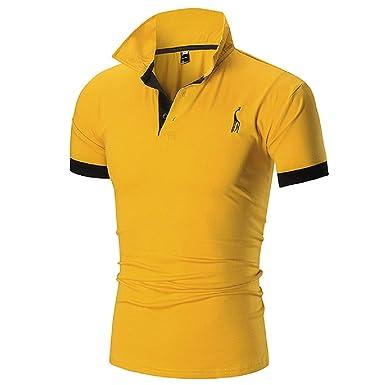 Camisetas Hombre, Jirafa Impreso Camisa Polos Casual Manga Corta T ...