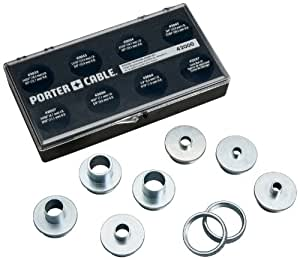 how to use router template guide bushings - porter cable 42000 9 piece template guide kit power