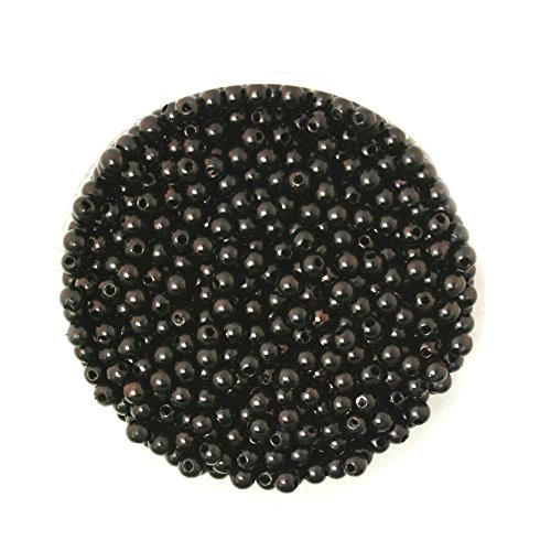 - FunnyPicker Hot Wholesale 4Mm Dia. 1000Pcs/Lot Round Pearl Imitation Plastic Pearl Beads Black For You To Diy Jewelry 1000 pieces/lot