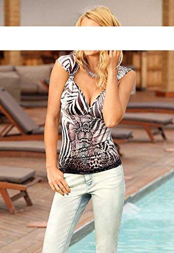 Rick Para Multicolor Camiseta Mujer Cardona xxwTfqv