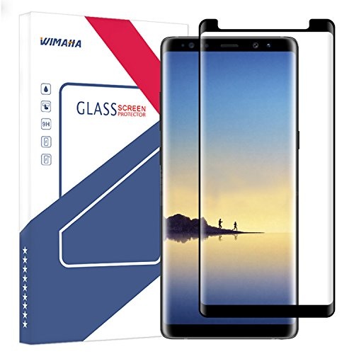 Price comparison product image Samsung Galaxy Note 8 Screen Protector (Maximum Coverage, Edge to Edge), Wimaha 1 Pack 3D Curved Tempered Glass Screen Protector for Galaxy Note 8 Scratch Resistant Bubble Free