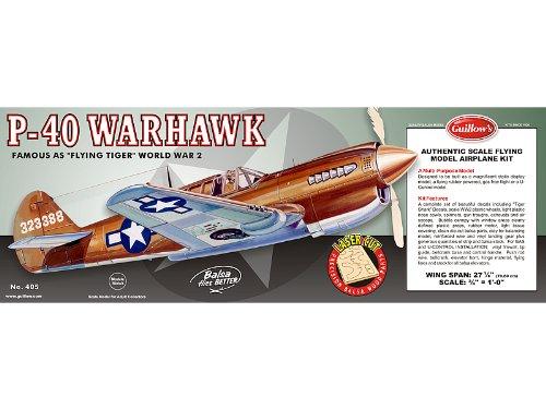 - Guillow's P-40 Warhawk Laser Cut Model Kit