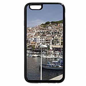 iPhone 6S Case, iPhone 6 Case (Black & White) - Polmari, Lesbos, Sifnos Greece