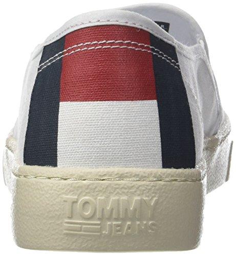 Bianco Denim On Tommy 100 Light Basse Uomo Hilfiger Jeans Slip White Scarpe Ginnastica da PpdwPqXWf