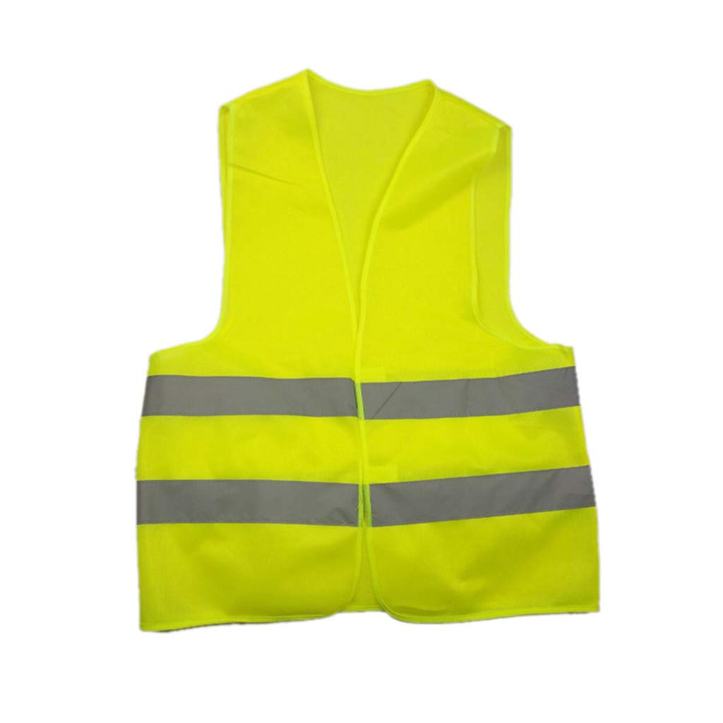 paway Reflective Vest Running High Visibility High Visibility Luminous Vest Security Equipment Night Work Tops with Pocket for Jogging Walking with Magic Stick and Adjustable Waist Size (Yellow)