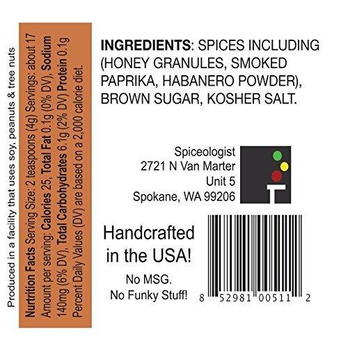 Spiceologist - Smoky Honey Habanero BBQ Rub and Seasoning - Sweet & Spicy Spice Blend - 5.7 oz(164g)