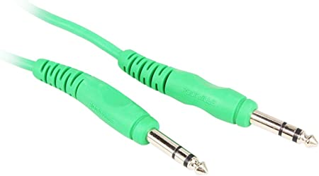 100/% Copper Rockville RCTR103G 3/' 1//4/'/' TRS to 1//4/'/' TRS Balanced Cable Green