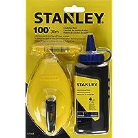 Stanley 47-443 Juego de caja de tiza de 3 piezas - botella de 4 onzas Azul nivel de línea de tiza y plástico Stanley