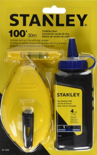Stanley 47-443 3 Piece Chalk Box Set - 4-Ounce bottle Blue Stanley Chalk & Plastic Line Level ()