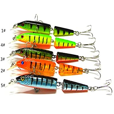 Laimeng,New 1pcs Fishing Lures Spinner Crankbaits Hooks Baits Assorted Fish Tackle