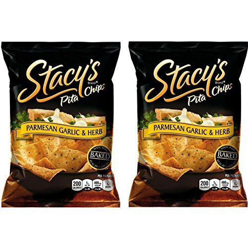 (Stacy's Parmesan Garlic & Herb Flavored Pita Chips, 7.33 Ounce (Pack of 2))