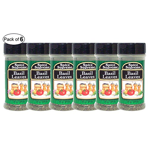 Spice Supreme- Basil Leaves (21g) (Pack of 6) by Spice Supreme ®