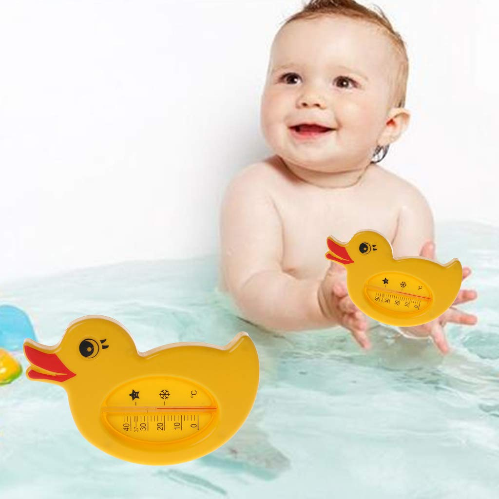 BINGHONG3 Baby Shower Thermometer Water Temperature Yellow Duck Cartoon Cute Bath Bathtub Bathing Supplies Kids Infant Room Indoor Sensor Toys