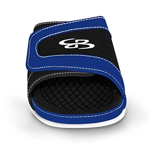 Boombah Mens Tyrant Slide Sandals - 32 Color Options - Multiple Sizes Black/Royal k0F3N7UDtp