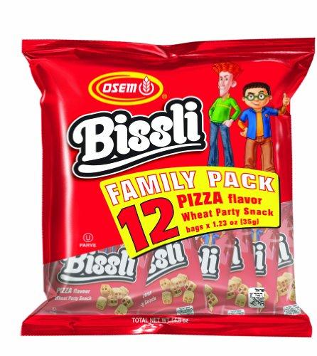 Osem Bissli Multi Pack Pizza Snacks, 1.2300-ounces (Pack of4)