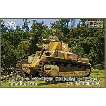 Mid-production Gasoline 1//72 IBG 72038 TYPE89 Japanese Medium tank KOU