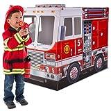 Melissa & Doug Fire Chief Truck Playhouse & Dress up Set