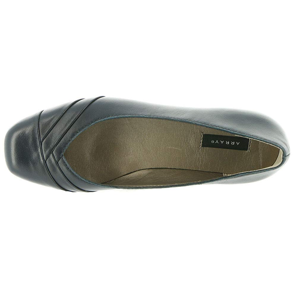 ARRAY Womens Crystal Leather Square Toe Formal Slide Sandals Size 11.0 Navy