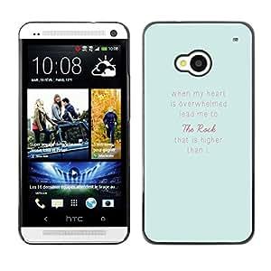 TopCaseStore / la caja del caucho duro de la cubierta de protección de la piel - Feelings Blue Pink Inspirational Text Love - HTC One M7