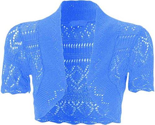 Coprispalle maniche donna bolero davanti girl da corte aperto tagliato a maglia in Turquoise Uptown Pxq5RSZw