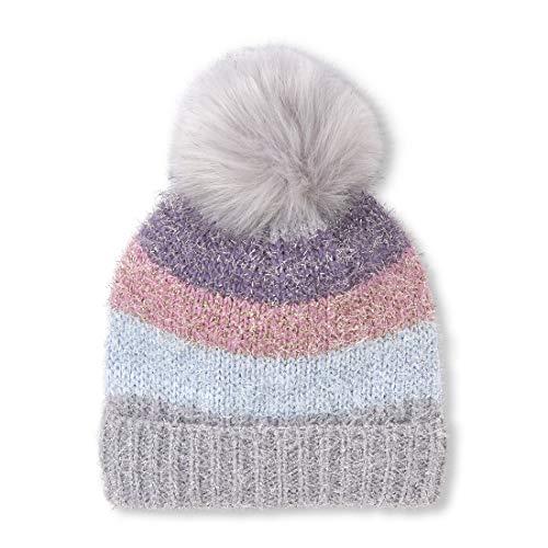 The Children's Place Big Girls' Beanie Cold Weather Hat, Silkworm, L/XL(8+YR)
