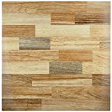 SomerTile FCL18DBG Houston Ceramic Floor and Wall Tile, 17.75'' x 17.75'', Beige/Brown/Grey