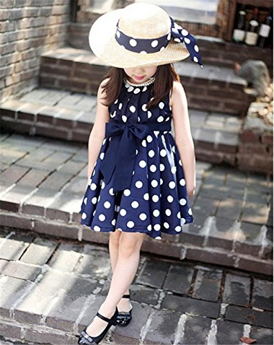 Girls Polka Chiffon Sundress Beach
