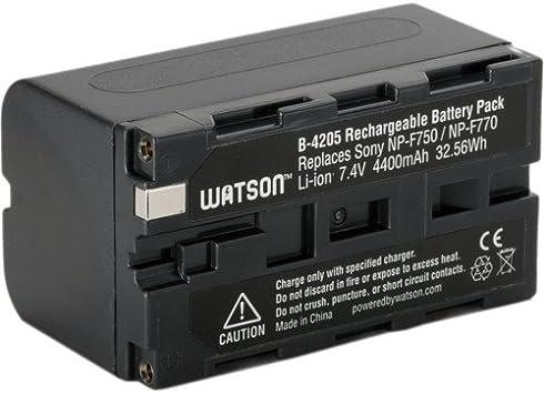 Amazon Com Watson Np F770 Lithium Ion Battery Pack 7 4v 4400mah Camcorder Batteries Camera Photo