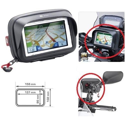 pour Kymco Porte GPS Smartphone Téléphone Portable Givi S954B Touch Universel de Guidon ou pour rétroviseur