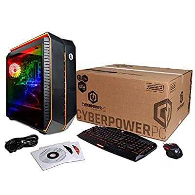 CYBERPOWERPC Gamer Master GMA3600A Desktop Gaming PC (AMD Ryzen 5 1500X 3.5GHz, NVIDIA GTX 1060 6GB, 16GB DDR4 RAM, 1TB 7200RPM HDD, 120GB SSD, Win 10 Home), Black