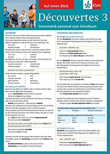 Découvertes 3 - Auf einen Blick: Grammatik passend zum Schulbuch - Klappkarte (6 Seiten)