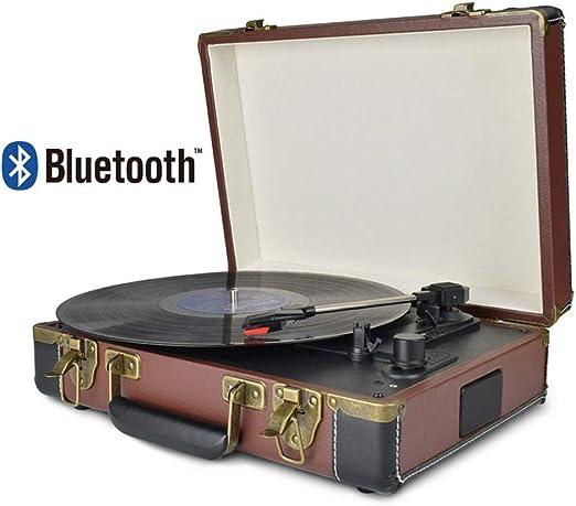 AF Reproductor de Discos de Vinilo Tocadiscos Bluetooth portátiles ...