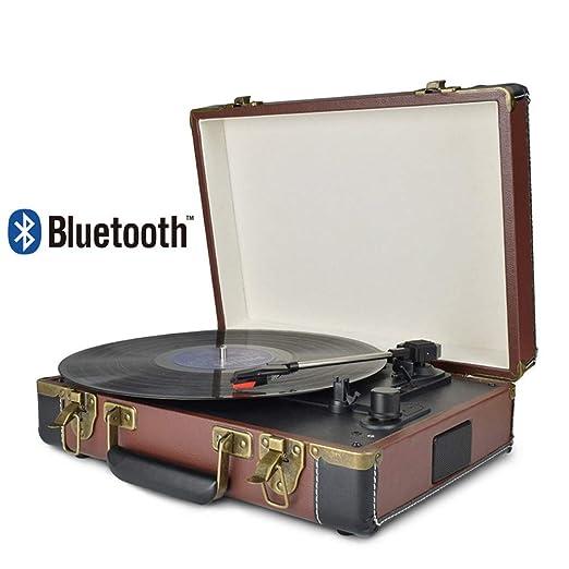 AF Reproductor de Discos de Vinilo Tocadiscos Bluetooth ...