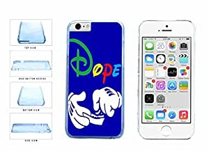 Dope Character Hands Clear Plastic Phone Case Back Cover Apple iphone 5 5s ( es screen) includes fashion case Cloth and Warranty Label