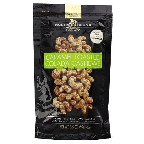 Squirrel Brand Caramel Toasted Colada Cashews 3.5 oz - Pack of (Wild Squirrel)