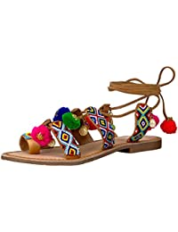 Women's Posh Toe Ring Pom Pom Sandal