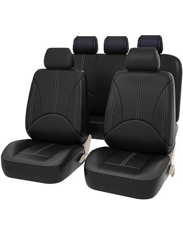 Carseatcover-UK XBLKPIPFS03 Black Car Seat Covers Full Set