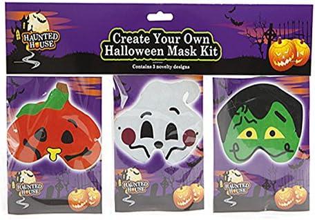 Pack de 3 Halloween Funny Face DIY truco o trato disfraz máscara Set.: Amazon.es: Hogar