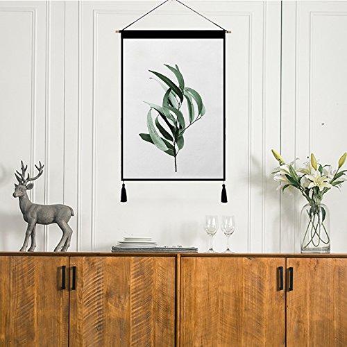 LONGXJA Nordic dekorative Tapisserie in Hintergrund Wand hängen Tuch Pflanze Hintergrund Tuch Meter Box Abdeckung Tuch Baumwolle Leinen Kunst Malerei, WGH-580007 B07P7GMBVY Sets