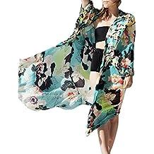 Beautyfine Clearance ! Women Chill Loose Floral Chiffon Shawls Cardigan