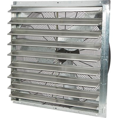 Strongway Enclosed Shutter Exhaust Fan - 36in, 1/2 HP, 7300 CFM