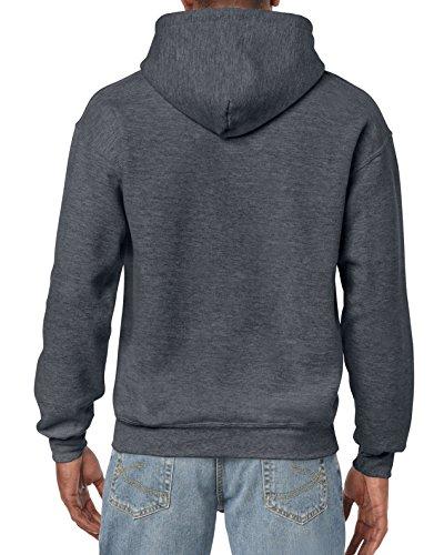 689a07d70 Gildan Men's Big and Tall Heavy Blend Fleece Hooded Sweatshirt G18500, Dark  Heather, XXX
