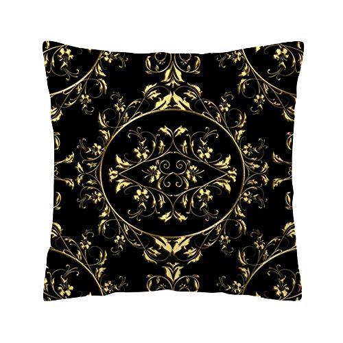 Price comparison product image Pgojuni Pillow Case Rose Black Gold Accent Cushion Cover Pillow Case Cushion Cover 1pc 45X45 cm (E)
