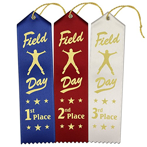 Field Day Award Ribbons - 45 Pack: 15 Each 1st - 2nd - 3rd Place ()
