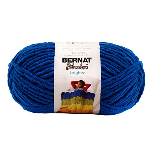 Bernat Blanket BrightsYarn - (6) Super Bulky Gauge  - 10.5 oz - Royal Blue  -  Machine Wash & (Royal Blue Knitting Yarn)