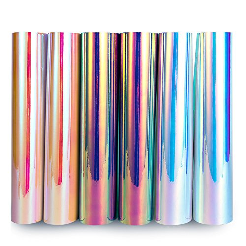 TECKWRAP Opal Chrome Holographic Precut Sheets, Mermaid