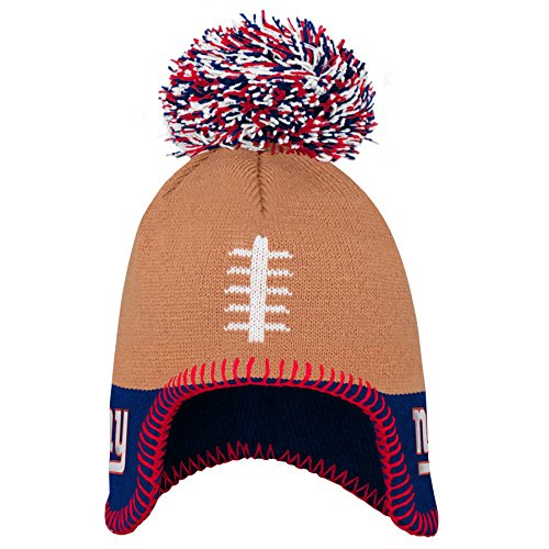 Outerstuff NFL New York Giants Infant Football Head Knit Hat Dark Royal, Infant One Size