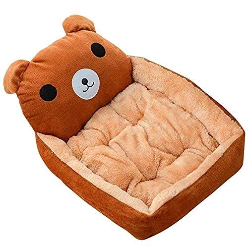 Looking back is the shore Pet Nest - Kennel Cat Teddy Teddy Bear Pomeranian Dog House Spring/Summer Pet Dog Dog Bed Pet Cartoon Four Seasons Kennel Pet Bed (Color: C, Size: 39CMX35CMX11CM) (Bears Shore)