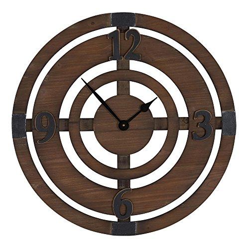 Household Essentials Wood Disk Wall Clock, (Target Wood Clock)