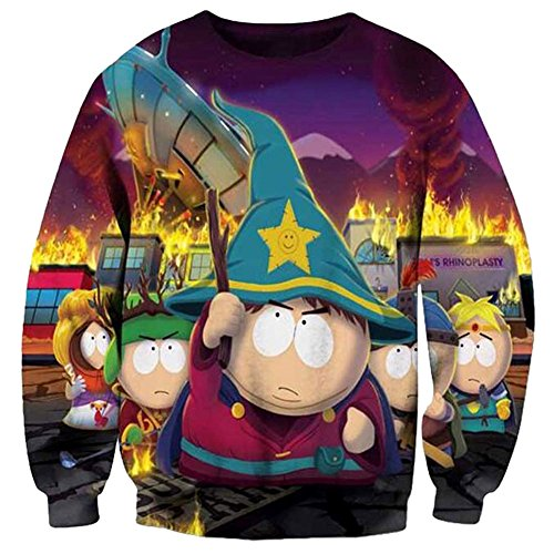 Chiclook Cool Harajuku South Park Explosion Shirts Sweatshirt Stitch Christmas Women Men Casual Pullovers